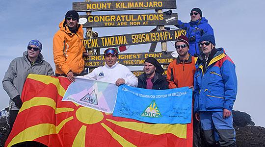 Nine Macedonians climb Kilimanjaro
