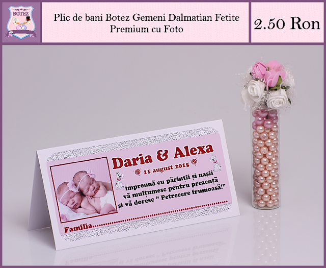 produse asortate botez gemeni fata-fata Dalmatian