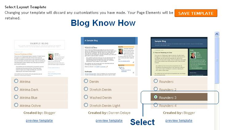 How to access old style templates in blogger blogspot blog select default blogger template from the menu pronofoot35fo Image collections