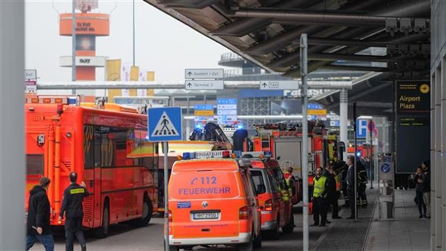50 affected after unknown corrosive substance spreads at Hamburg's airport