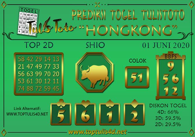 Prediksi Togel HONGKONG TULISTOTO 01 JUNI 2020