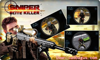 Download Game Sniper: Elite Killer Apk v1.6 + Mod (Ammo/Cash/No Reload) Terbaru