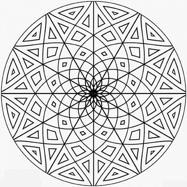 Kaleidoscope Coloring Pages Best Kaleidoscope Coloring Pages Free Printabl   To Download