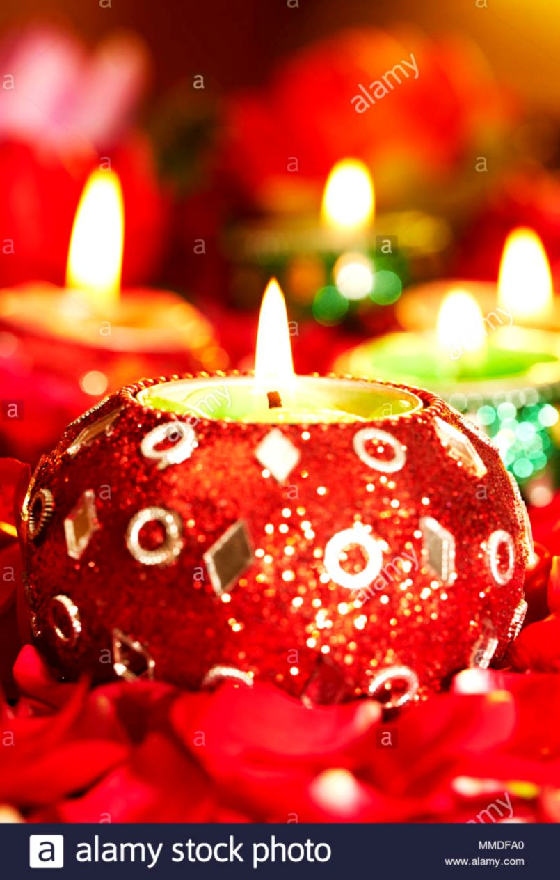 Light Decoration Diwali Candle Light Decoration Mega Wallpapers