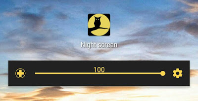 Reduce brightness in Night Screen app