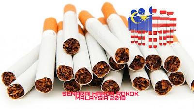 Senarai Harga Rokok Malaysia 2018