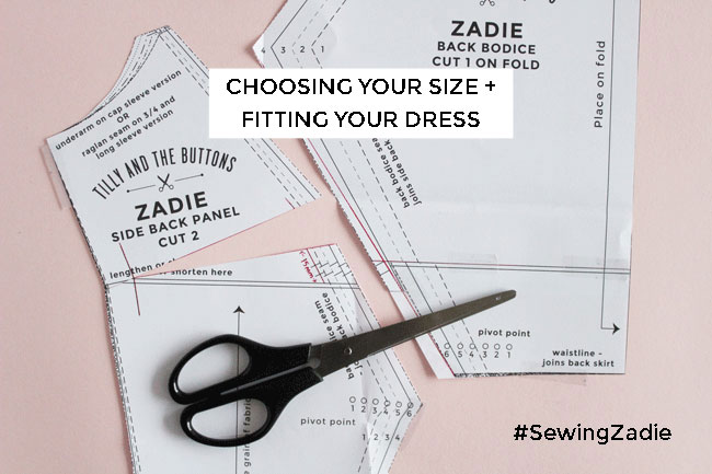 Fitting the Zadie dress - Tilly and the Buttons