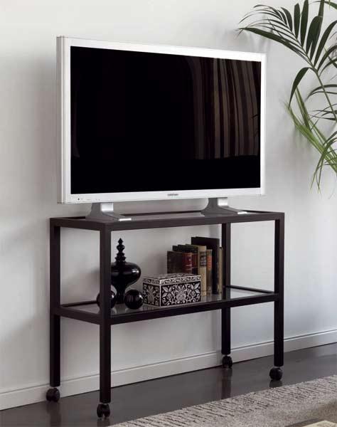 Muebles de forja mesas tv forja con ruedas - Muebles tv online ...