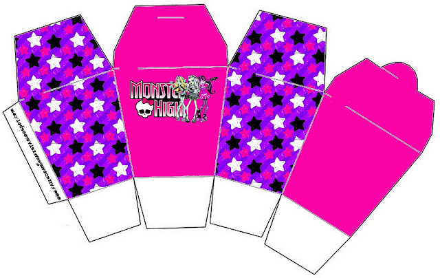 Monster High: Party Favor Boxes Free Printables.
