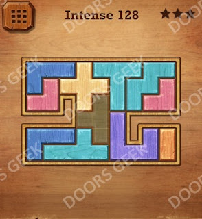 Cheats, Solutions, Walkthrough for Wood Block Puzzle Intense Level 128