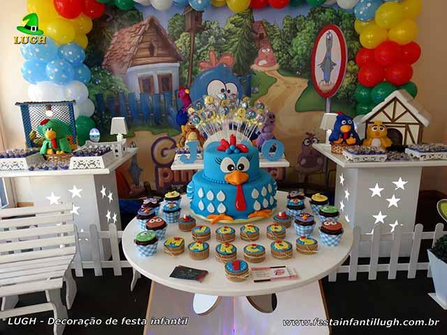 Decoração festa de aniversário tema da Galinha Pintadinha - ornamentação infantil