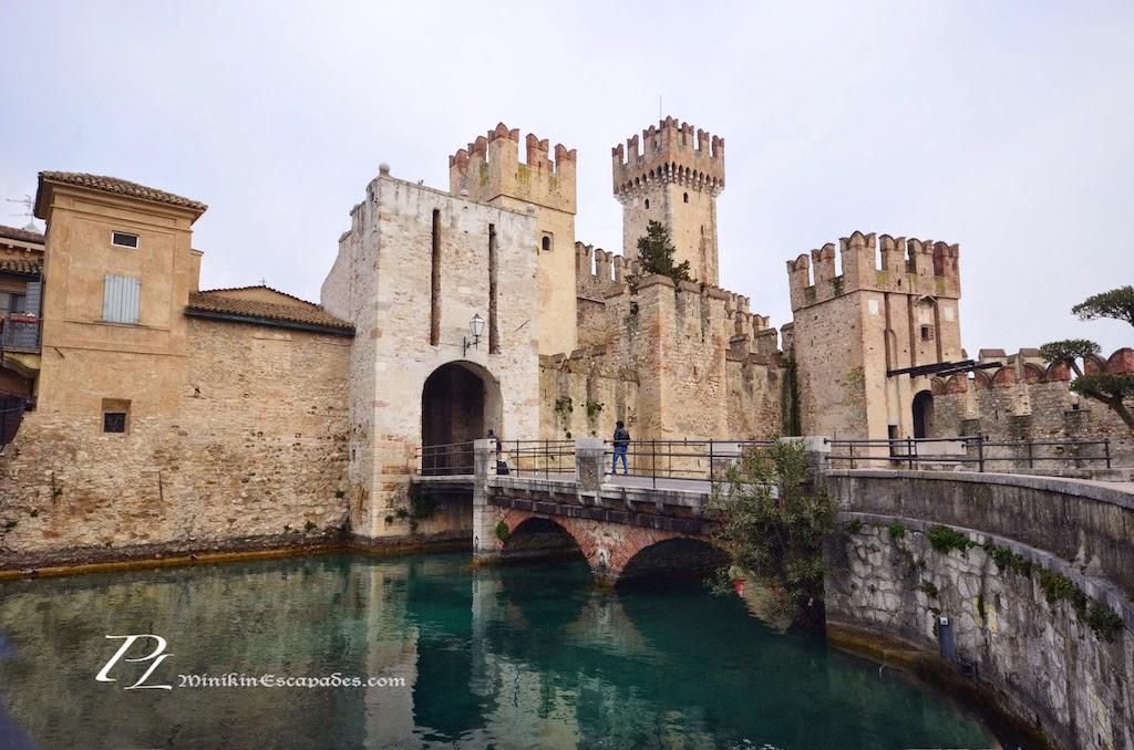 Castle Sirmione at lake Garda