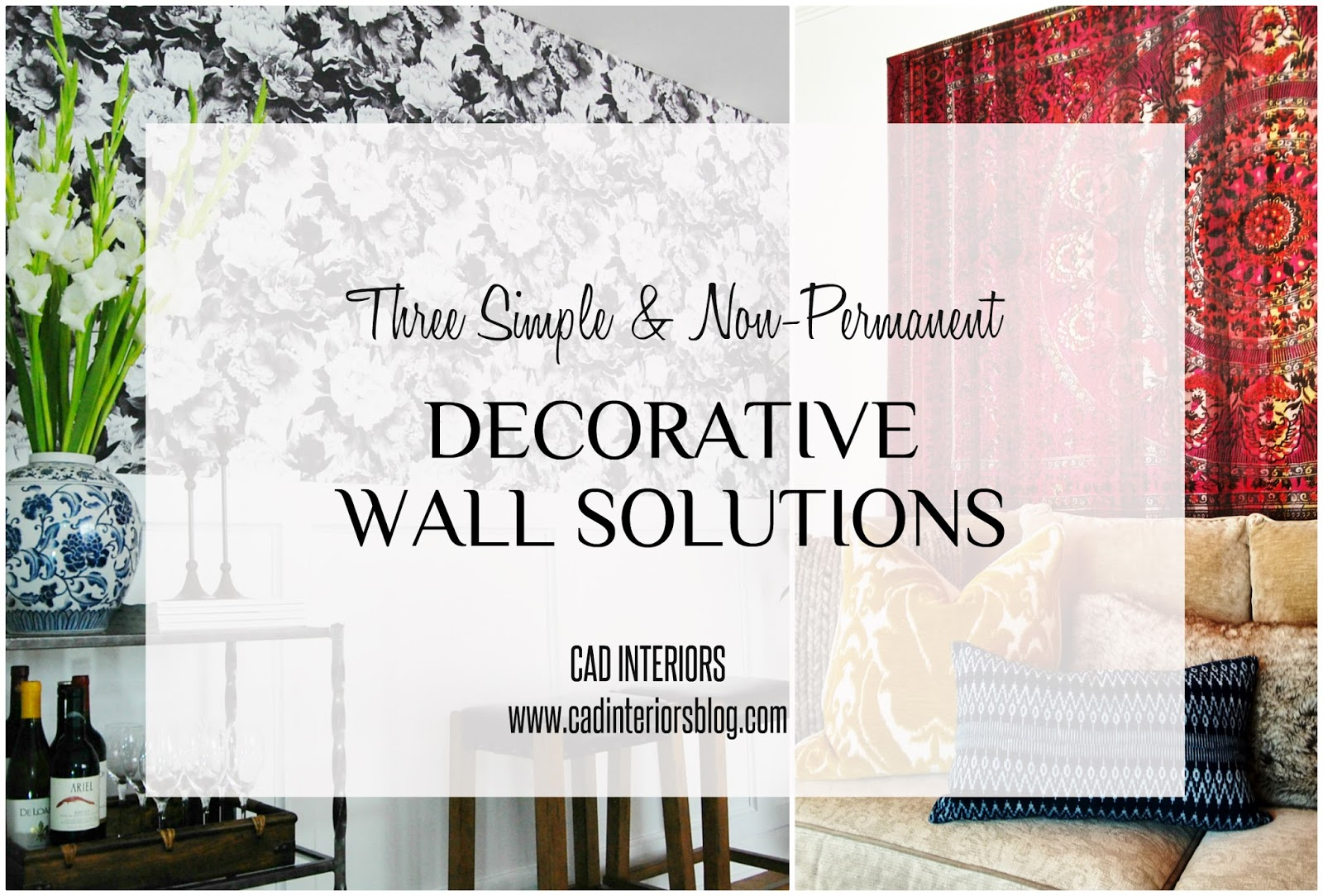 temporary non-permanent affordable removable simple wall hangings solutions art ideas