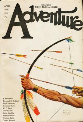 La rivista Adventure del 30 aprile 1922