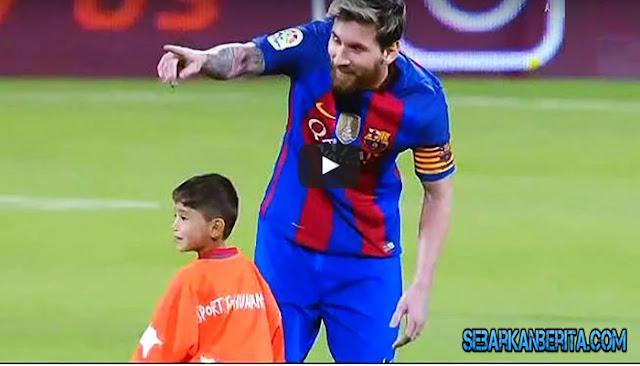 Video - Bocah Ini Berhasil Bertemu Idolanya 'Lionel Messi', Yang Terjadi Sangat Menyentuh