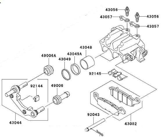 1500 Classic Dual Piston Rear Brakes 2001-up