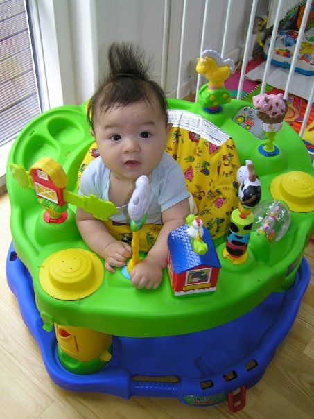 Exersaucer Images Family Fecs: Let Baby Play With Exersaucer And Bat At Toys
