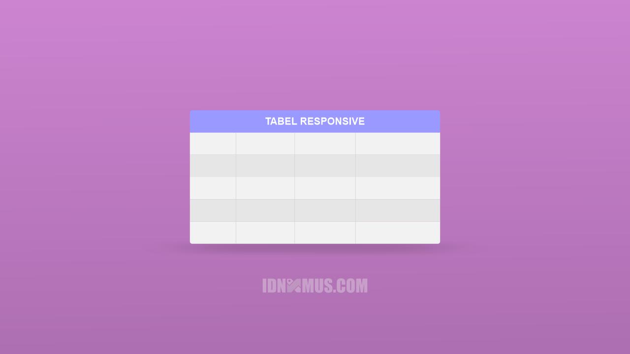 Buat Tabel Responsive di Blog AMP
