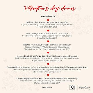 toi istanbul restaurant menü fiyatları