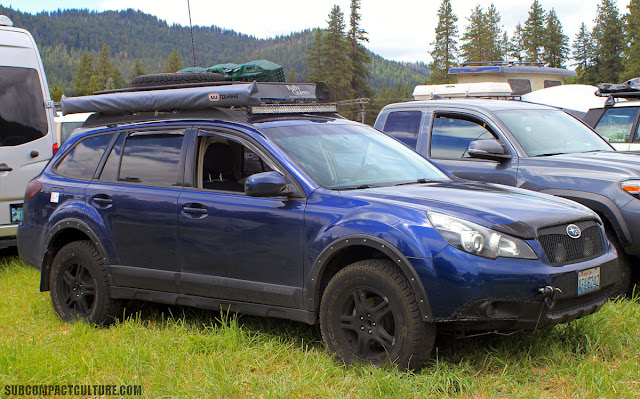 WA Subaru Outback, outfitted both rally and overlanding style.