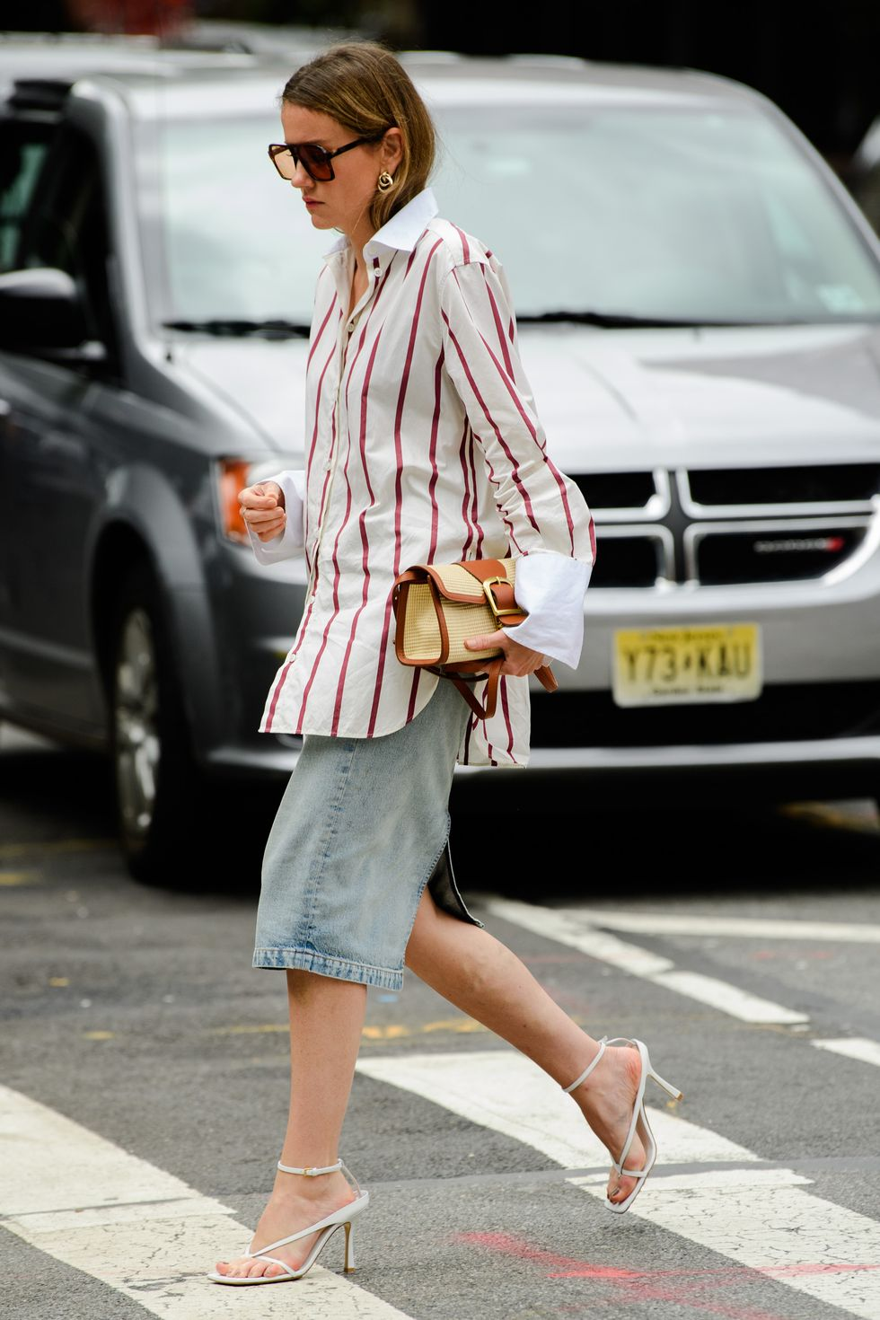 Recreate This Street Style Look – Oversized Striped Button Down