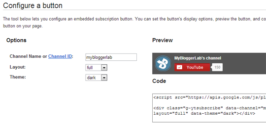 My Blogger Lab: How to Add a YouTube Subscribe Button in Blogger