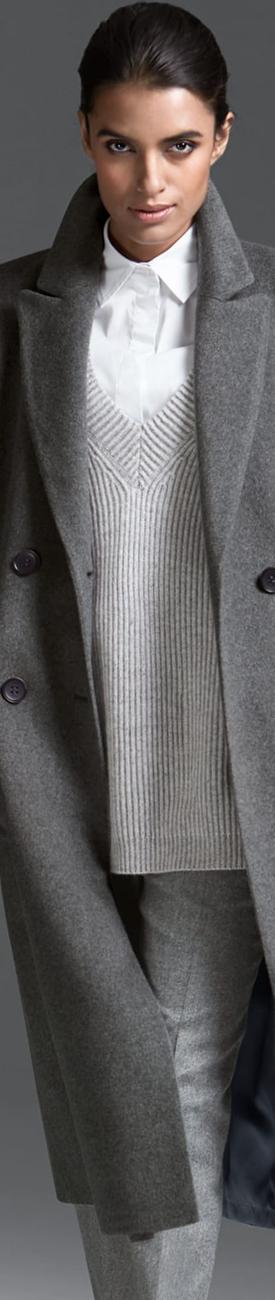 Madeleine Grey Cashmere Coat