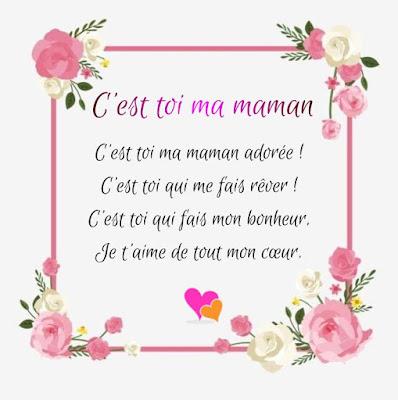 Un poème pour toi, ma maman adorée