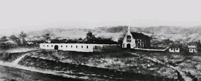 The gaol on Queen Street,  Brisbane, 1850 (John Oxley Library).