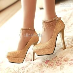 9fbddf528d5 Closed Toe Gold Prom Shoes Trend