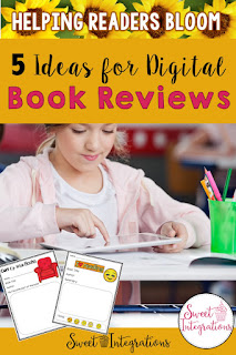 Go paperless with these 5 ideas for Digital Book Reviews. I've joined friends from the Reading Crew to share ideas and FREE resources to help your students BLOOM in Reading. This is excellent for grades 2-5.