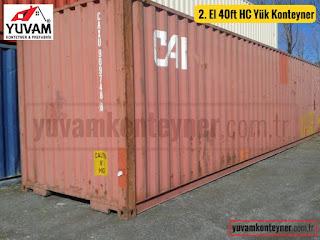 40lık high cube yük konteyner