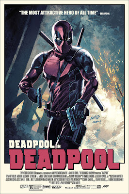 Deadpool Movie Poster Variant Screen Print by Rob Liefeld & Mondo