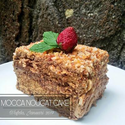 Resep Mocca Nougat Cake Ala Resto By @dapurwafda