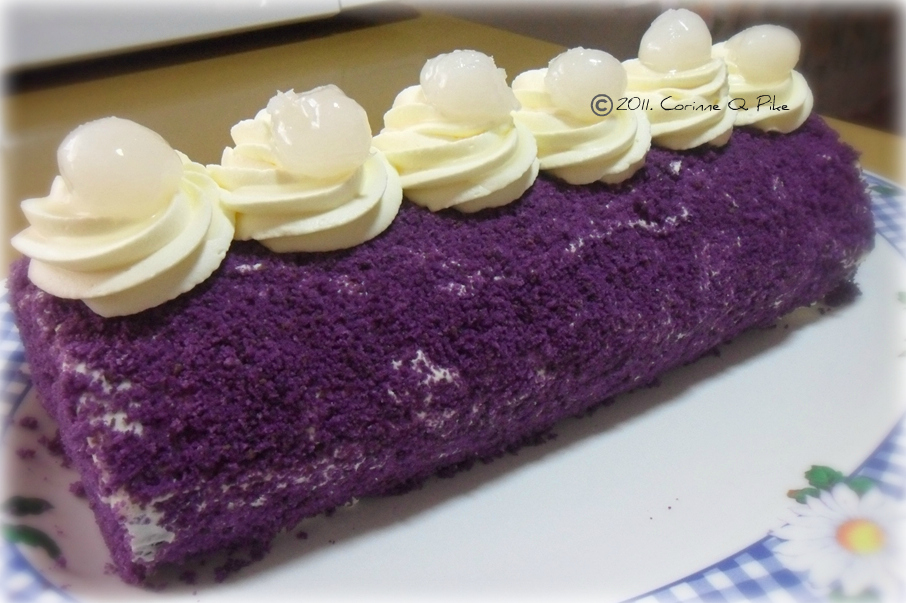 Ube Roll Cake Recipe With Macapuno