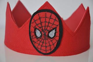 corona cumpleaños spiderman