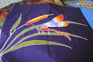 Dragonfly art panel all ready to be made into a quilt or bag