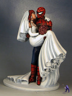 Custom Spiderman Figurines Wedding Cake Topper