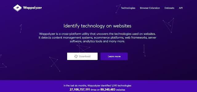 Cara Mengetahui Komponen dari sebuah Website dengan Wappalyzer