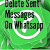 How To Delete Sent Messages On WhatsApp With The Message Being Deleted On The Recipient's Phone (Recall Feature)