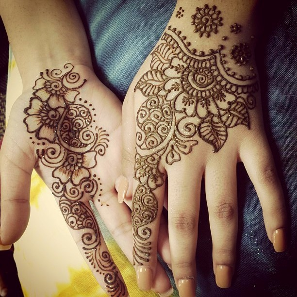 Elegant Henna Designs: Bridal Mehndi Designs: Simple And Elegant Arabian Mehndi