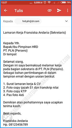 5 Contoh Body Email Lamaran Kerja Bahasa Indonesia Pc Hp