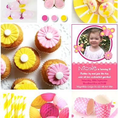 Pink & Yellow Garden Birthday Party Ideas
