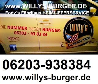 Willys Burger Taxi - Fodys Fährhaus HEIMLIEFERSERVICE - ONLINE BESTELLEN - Willys Burger - Ladenburg - Mannheim - Bergstrasse