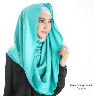 contoh kreasi hijab hoodie model terbaru