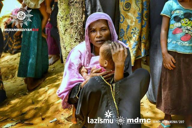 Pengungsi Rohingya di camp pengungsian Banglades