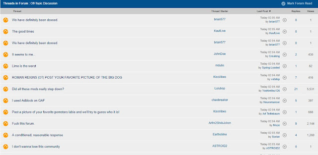 NeoGAF off-topic discussion ending closing chaos dying before shutdown