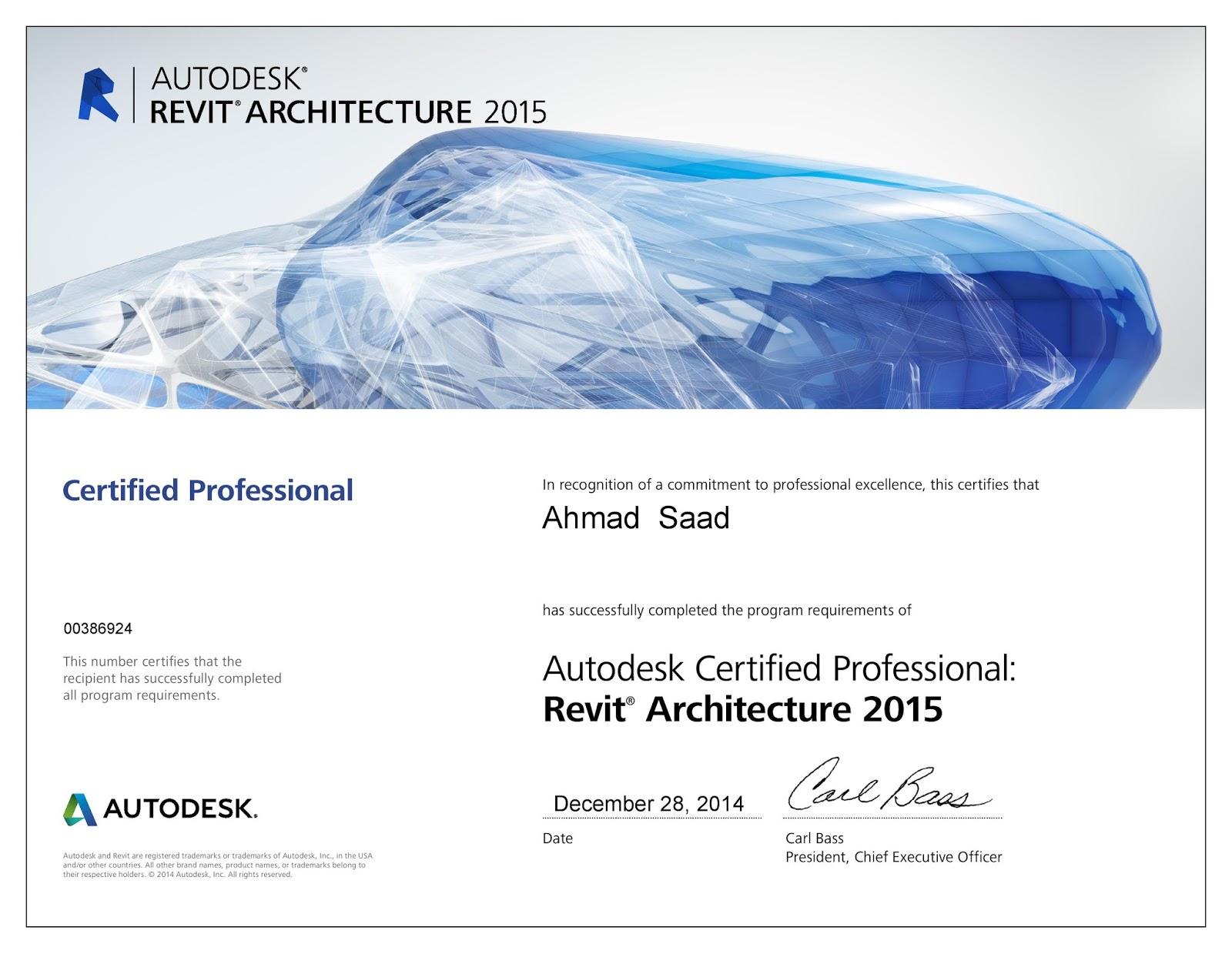Ahmed Halim My Revit Professional User Certification