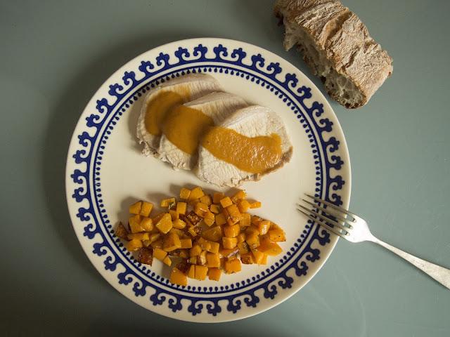 Cinta de lomo asada con salsa de jerez
