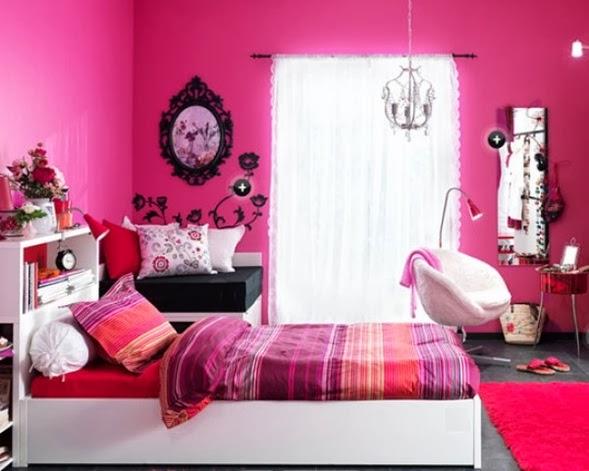 Dormitorio para niña fucsia